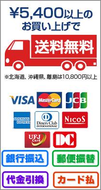 5000円以上で送料無料!振込、代引、カード等色々使えます!